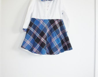 Vintage Girl's Plaid Dress