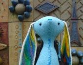 Blue Rex / Fiber Art Doll /