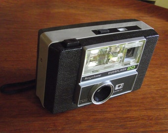1970's Keystone Everflash 20 Camera with Original Box and Instructions