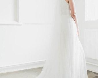 DELPHINE Chapel Length Wedding Veil