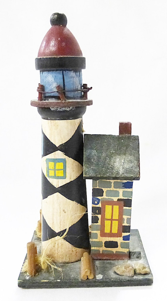 Clearance light house figurine nautical home decor wooden Clearance home decor