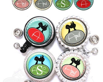 Labor & Delivery Badge Reel - Personalized Pediatric Baby Nurse Retractable ID Holder in 4 Colors with Name, Monogram, Occupation (A232)