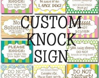 Please Knock sign -CUSTOM-