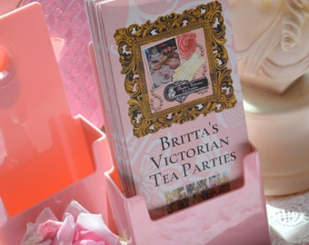 "2 PINK BROCHURE HOLDERS, ""Think Pink"" when marketing at craft shows and art fairs!!"