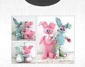 Bunny Rabbit PDF Pattern - Rupert and Piper Bunny