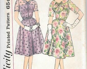 Simplicity 3888 UNCUT 1960s Half Size Dress Vintage Sewing Pattern Size 16.5 Bust 37