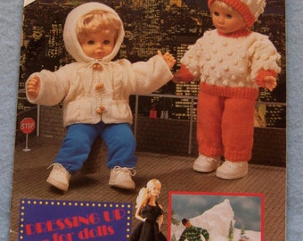knitting crochet patterns DOLL CLOTHES - Fashion Dolls Baby Dolls