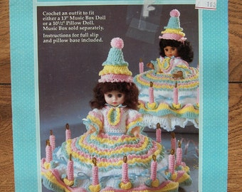 1990 Fibre Craft Crochet pattern BIRTHDAY GIRL