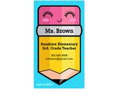 Mom Calling Card  Japanese Kawaii Pencil for School Teacher