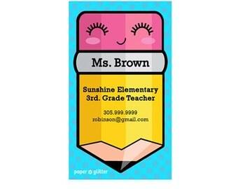 Mom Calling Card  Japanese Kawaii Pencil for School Teacher