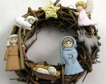 Holy Family Nativity Manger Scene Christmas Ornament 205
