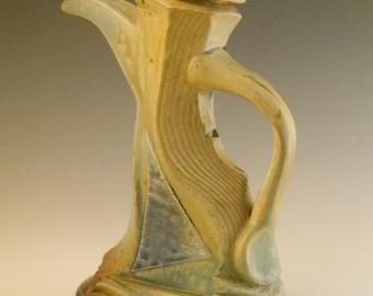 Sculptural Faceted Teapot