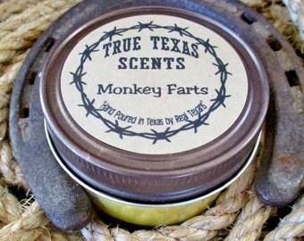 Monkey Farts - 4 oz Western Texas Cowboy mason jar candle