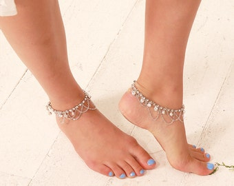 harper bridal anklet beach wedding foot jewelry crystal anklet bridal foot chain
