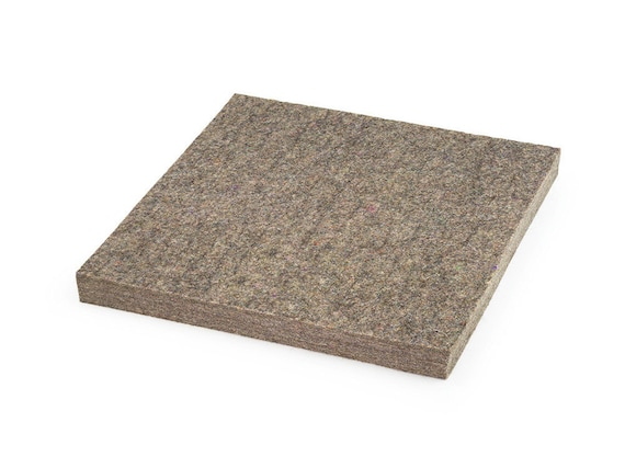 "Medium Density Industrial Wool Felt Square - Natural Gray, SAE F7 Grade, 12"" x 12"", 1/8"" to 1"" Thicknesses Available"