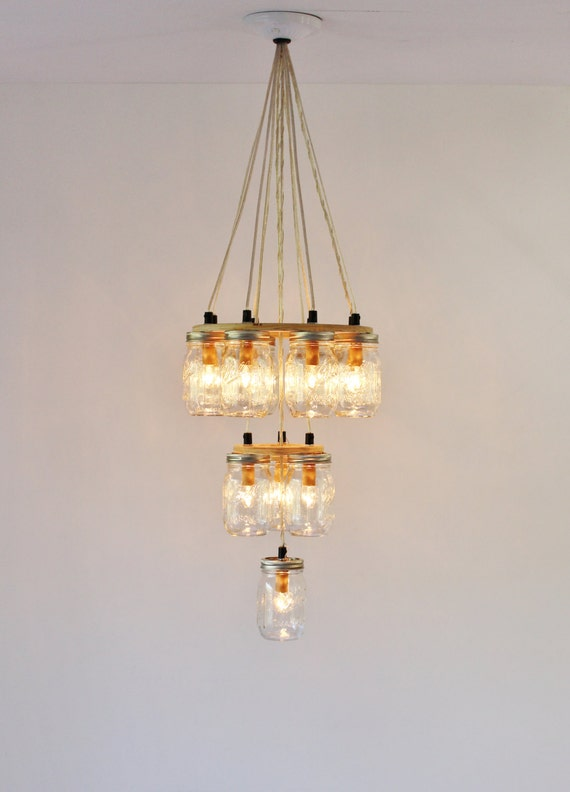 mason jar chandelier large 3 tier mason jar lighting fixture 12