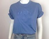 VTG Paris France Tourist Souvenir Tshirt