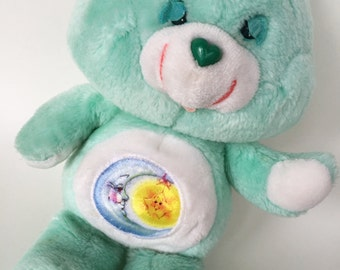 "13"" Care Bears Bedtime Bear Plush 1983 by Kenner"