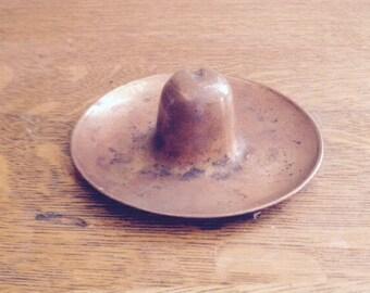 Vintage Copper Sombrero Tray