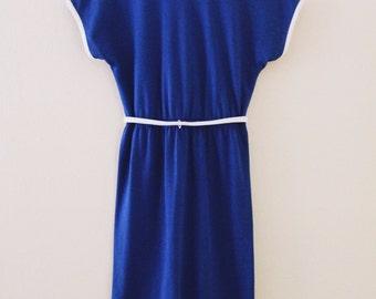 70's Blue Beach Dress