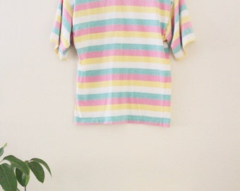 80's Candy Striped Tee
