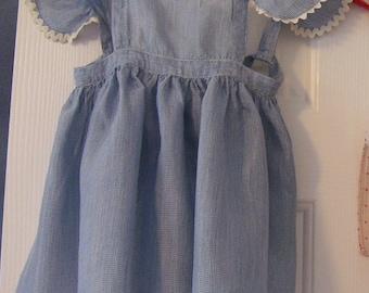 Apron for Little Girl, Handmade Vintage 1930s