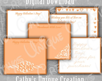 Etsy Shop Thank you Valentine cards Packaging Supplies Printable Letter PDF INSTANT digital download DIY Handmade Thank you letter Sweet