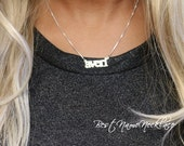 All lowercase name necklace - custom mini name necklace - averi style name necklace - petite double thick silver mini necklace