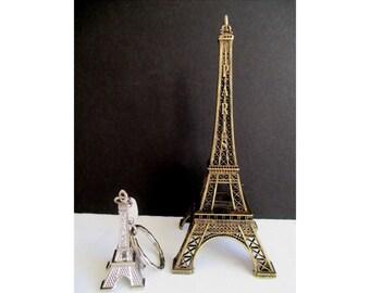 EIFFEL TOWER Figurine And Key Chain * Paris France Accessory