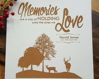 Outdoor Scene Memorial Gift, Personalized Memorial gift, Funeral Gift, Engraved Memorial Gift, Wildlife Memorial Plaque, Personalized Plaque