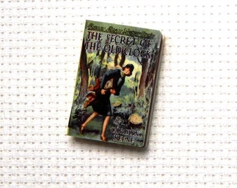 Needle Minder Miniature Book Nancy Mystery Book Girl Detective 1 Inch