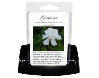 GARDENIA Soy Melts - Wax Tarts - Soy Tarts - Candle Tarts - Melting Tart - Scented Tart - Tart Melt - Wax Melt - Clamshell - Dye Free