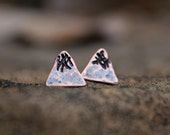 Copper Peak Studs - Solid Copper  - Snowy Peaks - Salvaged Peaks - Snow Mountain - Wanderlust - Adventure - Outdoors