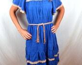 Vintage Boho Hippie Crochet Summer Dress