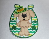 Free Shipping Ready to Ship St Patricks Horseshoe Fabric iron on applique