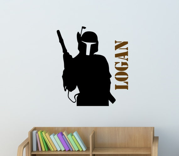 Boys Star Wars Wall Decal Teen Personalized Starwars Fighter