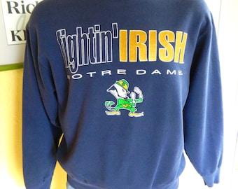 Notre Dame 1980s vintage sweatshirt - Fightin Irish blue size large