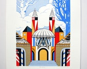 Capital Kingdom (from Nutcracker), Original Screenprint, Hand-printed, Limited Ed