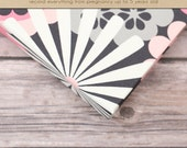 Baby  Book (Pregnancy - 5 years) - Pink/Grey Blossoms  (136 designed journaling pages & personalization included)