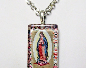 Our Lady of Guadalupe pendant with chain - GP12-308