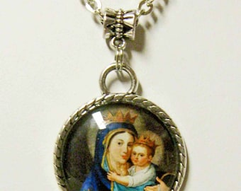 Lady of Mount Carmel pendant and chain - AP05-047