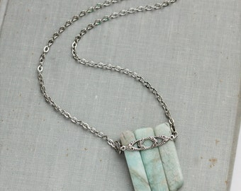 Amazonite Necklace. Gemstone Necklace.