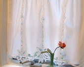 Battenburg Lace Curtain, Curtain, Drapery, Window Treatment, Shabby Chic, French Country, Cream, by mailordervintage on etsy
