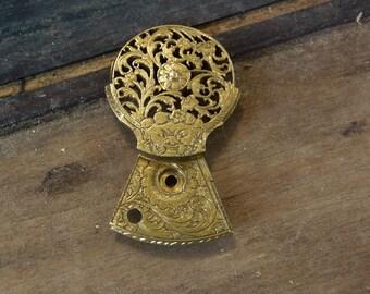 Vintage Gilt Brass Figural Fusee Pocketwatch Balance Regulator