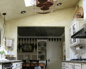 farmhouse pot rack