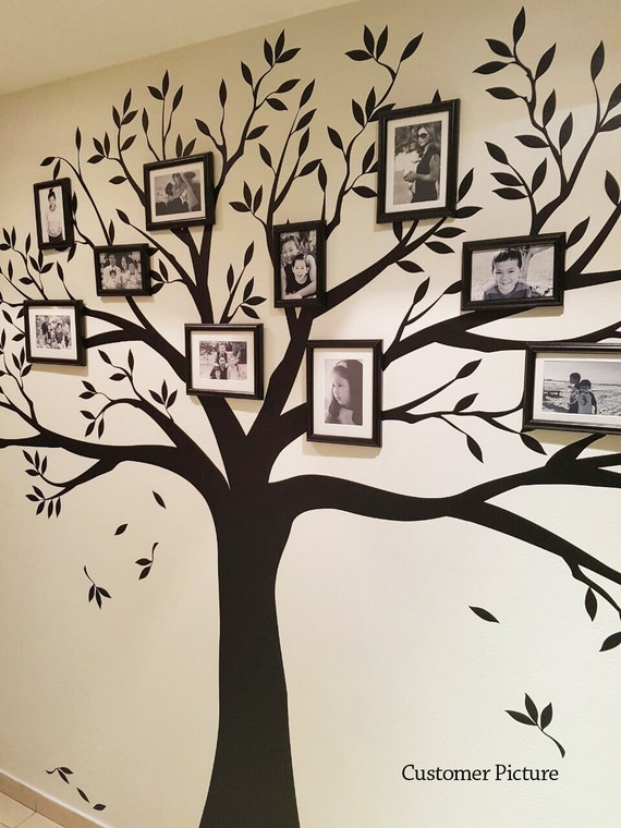 Wall decal Family Tree Wall Decal Photo frame by SimpleShapes