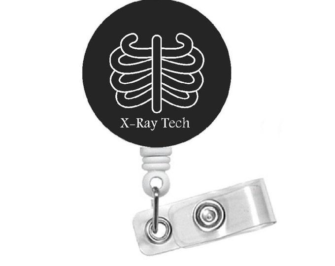 X-ray Tech - Id Badge Holder - Id Badge Reel - Radiologist Badge Reel - Xray Badge Clip - Badge Reel - Name Badge Holder - Rt Badge Clip
