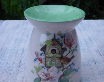 Wren Nest Box in the Magnolias Ceramic Tea Light Tart Burner