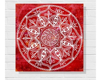 Zendala Painting / Original Art Painting / Canvas / Zendoodle Painting / Mandala Painting / Acrylic Painting / Art on Canvas