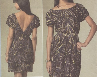 Designer Sewing Pattern By Cynthia Steffe / Vogue 1207 / Dress / Sizes 6 8 10 12